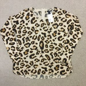 H&M Leopard Print Long Sleeve Sweater